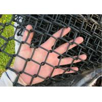 China Hot Dipped Link Chain Fence , Dark Green Residential Chain Link Fencing on sale