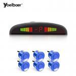 Best HD Monitor 12V Car Reverse Sensor Set 6 Waterproof Sensors Easy Installation wholesale