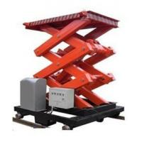 China 1T Load Hotel Exhibition Hall Elevating Hydraulic Scissor Lifts with Extension Platform on sale