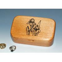 Best Natural Wood Solid Timber Jewellery Box With Lacquer, Handmade Wooden Ring Gift Box wholesale