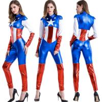 Cheap Halloween Captain America Costume Adult Cosplay ,SEXY adult costume.COSPLAY for sale