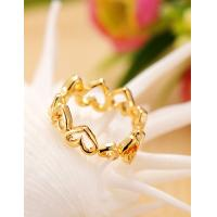 Best 2015 Fashion Korean 18K Gold Plated Wedding Rings for Women in Jewelry Factory Direct wholesale