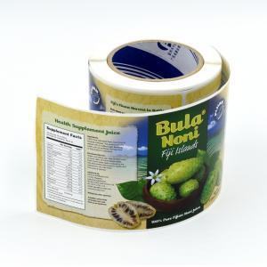 Custom Made Waterproof Self Adhesive Vinyl Juice Labels with Glossy Lamination