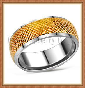 China 18K gold plated nickel free popular design titanium ring wholesale on sale