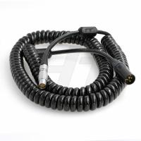 China 24V Teradek ARRI Camera Cable , 8 Pin Female to XLR 3-pin Male Coiled Power Cable on sale