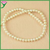 Best wholesale AA quality 6mm white round real natural loose freshwater pearl bead string wholesale
