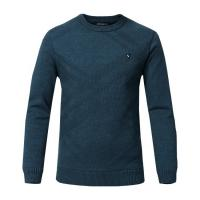 China Custom Logo Round Neck Knit Pullover Sweater  Customizable Plain long Sleeve Winter Sweaters for Men on sale