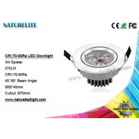 China 3W LED downlight , Integrated Led Downlights  270 lm Epistar on sale