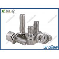 Best A2 Stainless Steel DIN 912 Socket Cap SEMS Screw with Double Washers wholesale