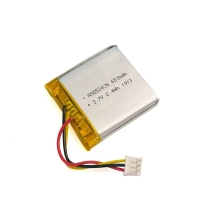 Best 1C Rate 650mAh 3.7 V Lithium Battery Pack For Portable Source wholesale