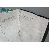 China Woven Chest Pieces Hair Canvas Lining Piece Polyester Fabric with Non Woven Felt for Men Suit on sale