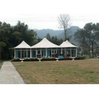 Best Semi Permanent Luxury Resort Tents 1050g PVDF Membranes Three Peaks Material wholesale