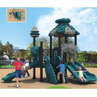 Best small size outdoor plastic slide professional playground equipment for kids wholesale