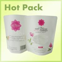 Best White Kraft Paper Stand Up Tea Packaging Pouch With Custom Offset Printed wholesale