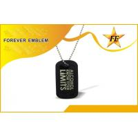 China Cool Military Personalised Dog Tags / Engraved Dog Tags With Ball Chain on sale