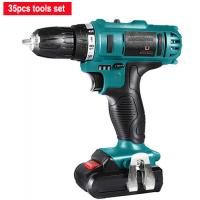 Best Lithium Battery 21V Cordless Drill Tool Set 35 Pieces Variable Speed Quick Stop wholesale