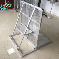 Best Ensure Safety 1M*1.2M*1.2M Aluminum Finish Stage Barriers wholesale