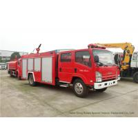 China ISUZU ELF 700P Fire And Rescue Trucks With 4 Ton Water Tank / Fire Pump on sale