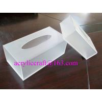 Best Plexiglass / PMMA / Acrylic Tissue Box For Hotel And Home Made In China wholesale