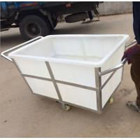 Best K500liter Rotomolding Large square Plastic storage laundry carts and trolley with wheels wholesale