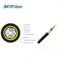 Best Customized Length Fiber Optic Drop Cable , Fiber Optic Armored Cable Adss 24 Core wholesale