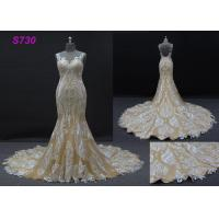 Buy cheap Champange color sleeveless sheath mermaid wedding dress bridal gown from wholesalers