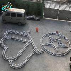 Best 4M Length Aluminium Arch Truss Heart Five Pointed Star Shape wholesale