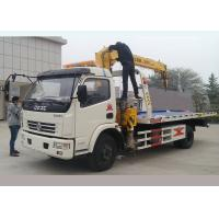 Best 5 Meters Flatbed Wrecker Tow Truck With 3.2 Ton XCMG Crane Vehicle Lifting wholesale