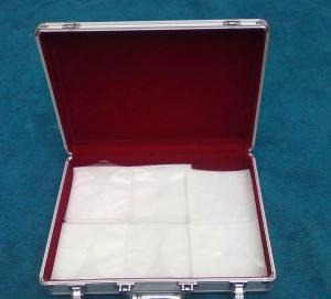 Buy cheap Portable Velvet Lining Aluminium CD Storage Case Electroplate Iron Key Lock from wholesalers