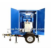 Buy cheap Mobile Trailer Trolley Mounted Transformer Oil Purifier, Cable Oil Degassing from wholesalers