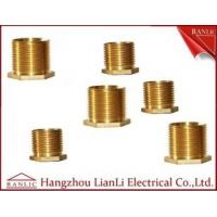 Best Brass Male Bush Brass Electrical Wiring Accessories Long Hexagon Head GI Thread wholesale