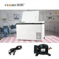 China 18L/28L Car Cooler Box Chest Freezer , Tempered Glass Outdoor Car Refrigerator on sale