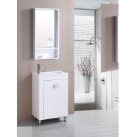 Buy cheap Floor PVC Bathroom Cabinet Single Bowl Bathroom Vanities With Mirror from wholesalers