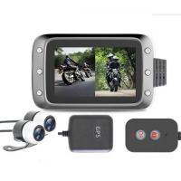 Best 1080P Dual Lens Motorbike DVR with 2 channels input Camera and gps antenna wholesale