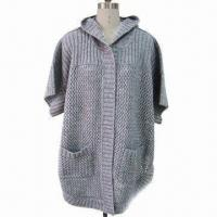 Best Crochet Hood Cardigan, Comes in Short Sleeves, with Pocket wholesale