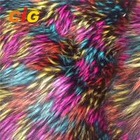 China 100% Polyester Faux Fur Fabric Car Seat Cover Long Pile Faux Fur Fabric on sale