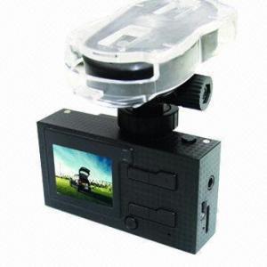 HD 720P Dual-camera Car Black Box/Vehicle DVR with GPS/G-sensor/Voice Speech/AV-in/Motion Detection