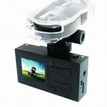 Cheap HD 720P Dual-camera Car Black Box/Vehicle DVR with GPS/G-sensor/Voice Speech/AV-in/Motion Detection for sale