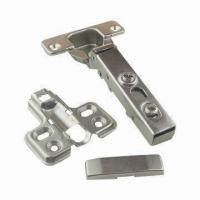 China Concealed Cabinet Hinge, Made of Cold-rolled Steel, with Copper and Nickel-plated Finish on sale