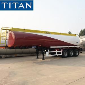 China TITAN 3/4 axles 30-60cbm diesel fuel trailer oil tanker truck for sale on sale