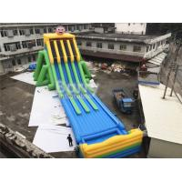 China Commercial Grade 4 Lanes Wet Giant Inflatable Water Slide For Big Event on sale