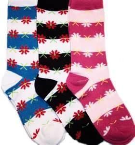 Best Funky Jacquard Colorful Stripes Cotton Womens Crew Socks / Ladies Fashion Sock wholesale