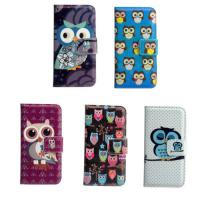 Best Cute Cartoon Owl Stand Wallet Flip LG Cell Phone Covers Light Weight wholesale