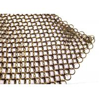 China Stainless Steel Ring Mesh Drapery 1.2MM X10MM Used Window Treatments , Backdrops on sale