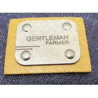Best Manufacturer custom metal jeans pu label and printing leather patch label clothing label tag for jeans wholesale