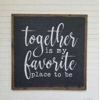 China Blackboard Wooden Plank Plaque , Wall Hanging Painted Wooden House Signs on sale