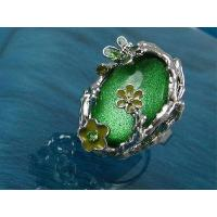 Best Emerald Ring with Butterfly & Daisy wholesale