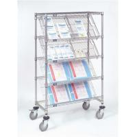 Best 5 Layer Commercial Metal Storage Racks Company Display Chrome Slanted Shelving wholesale