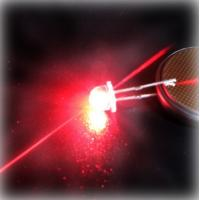 Best Energy saving 620 - 625nm Red 5mm Strawhat LED , Water clear Lens 800 - 1200MCD wholesale