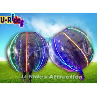 China Heat Sealed Clear Inflatable Zorb Ball Colorful Security With LED Light wholesale